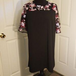 Pink/Black Dress